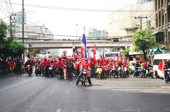 Red Shirt Army in Bangkok, Thailand