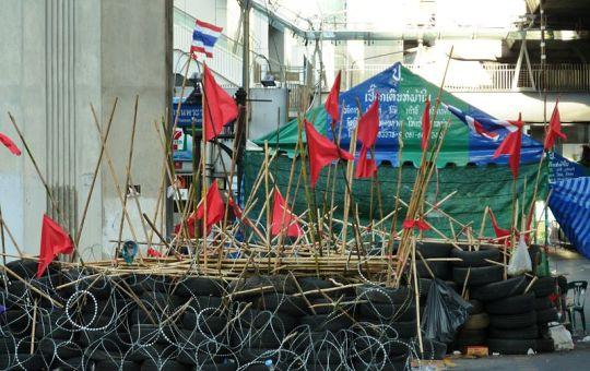 Red Shirt barricade at Rajprasong, Bangkok