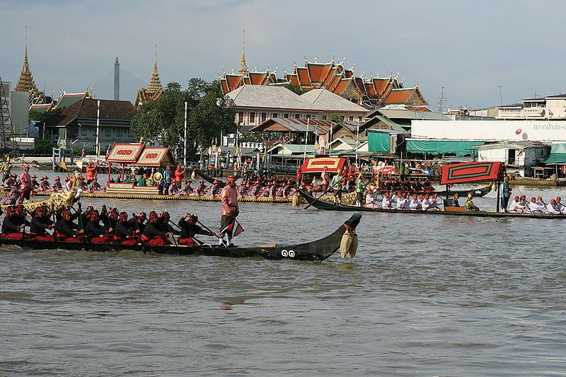 Royal Barge Procession for Royal Kathin Ceremony at Wat Arun