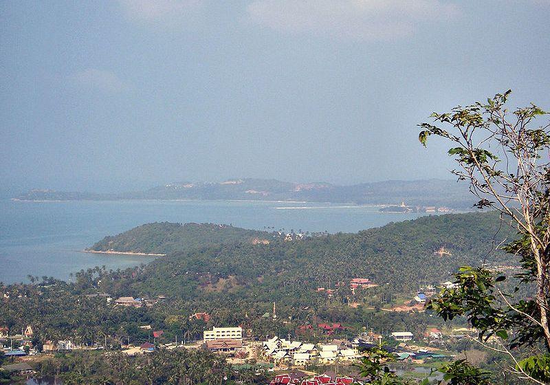 Resort development and villa construction in the hills south of Maenam on Koh Samui
