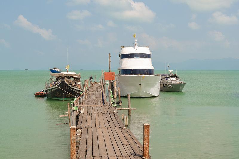 Pier in Koh Samui Island, Surat Thani
