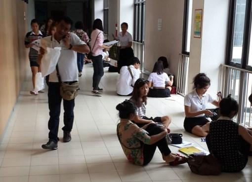Inside Ramkhamhaeng University in Bangkok
