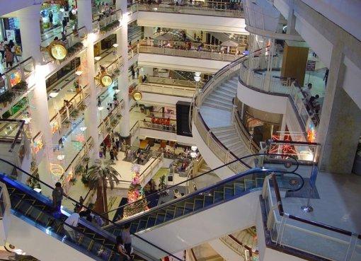 Top view of CentralPlaza Bangna, also known as Central City Bangna shopping centre