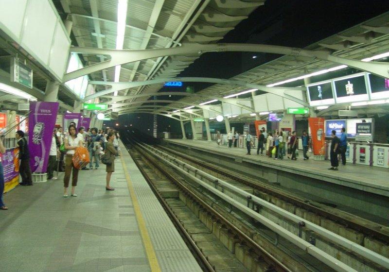 Skytrain station in Bangkok