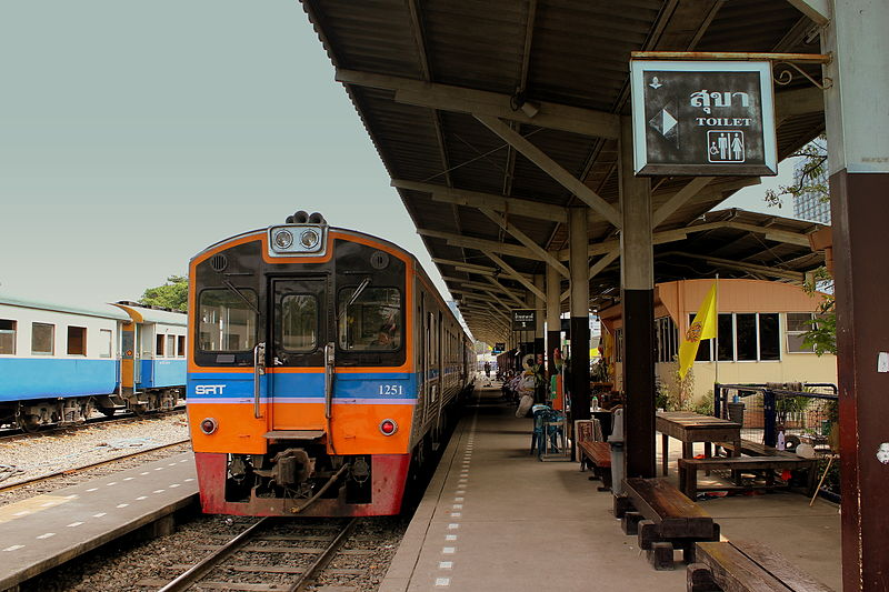 A railway station in Thailand