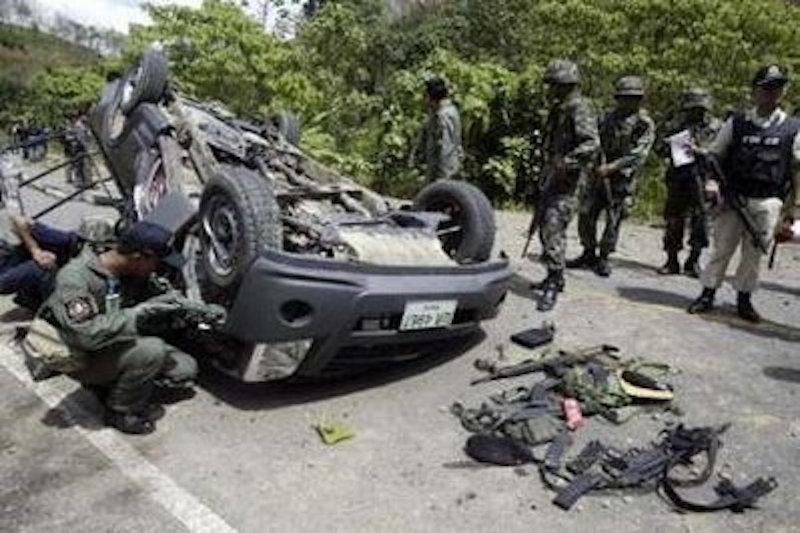 Roadside bomb attack injures six rangers in Pattani