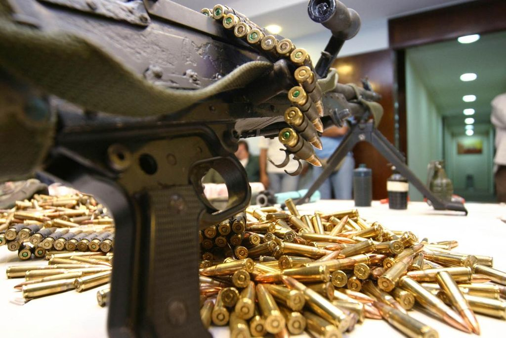 Drug traffickers' weapons, guns and ammunition