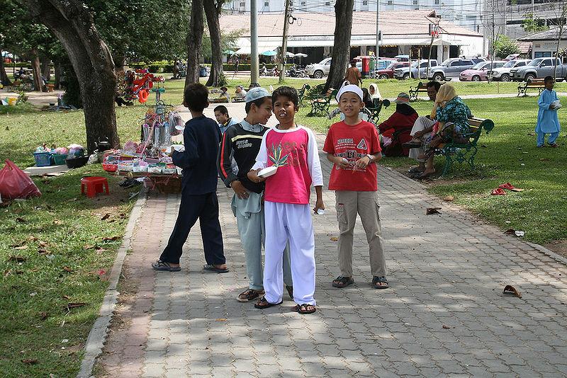 Malay Muslim children in Songkhla