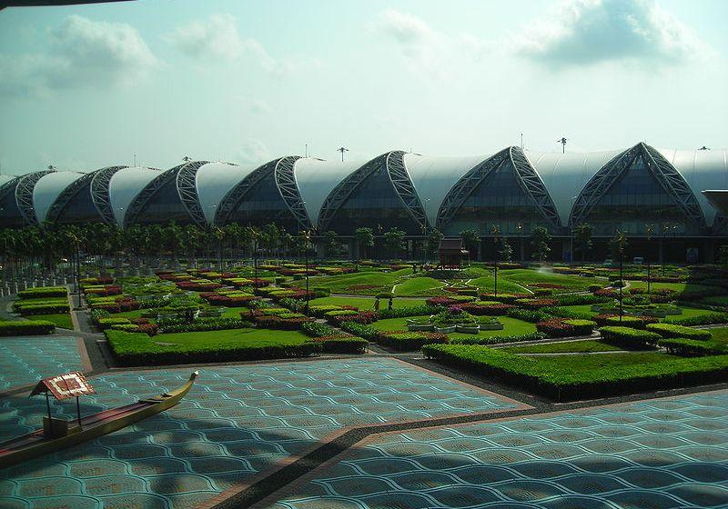 Garden at Suvarnabhumi International Airport, Bangkok