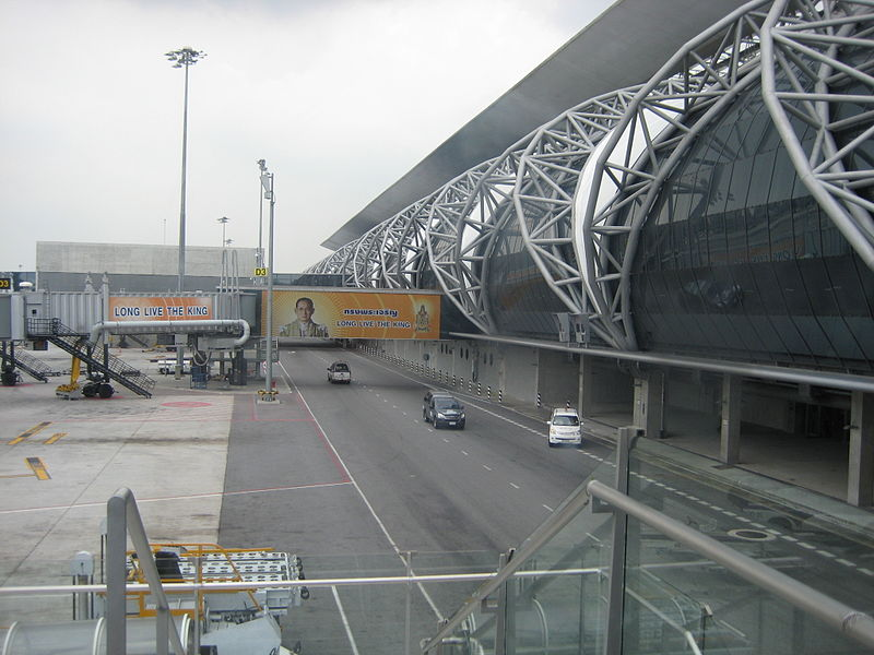 Jetway bridge at Suvarnabhumi Airport in Samut Prakan