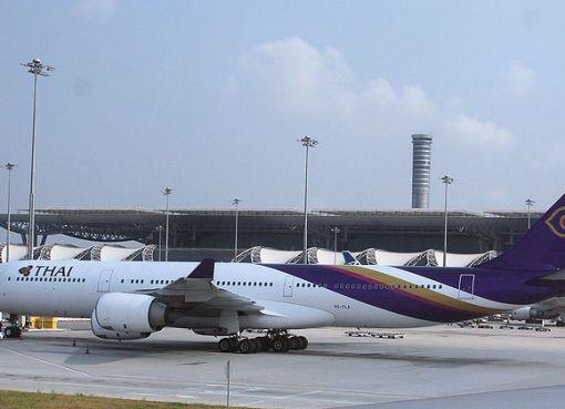 Thai Airways Airbus A340 (HS-TLA) at Bangkok Suvarnabhumi airport