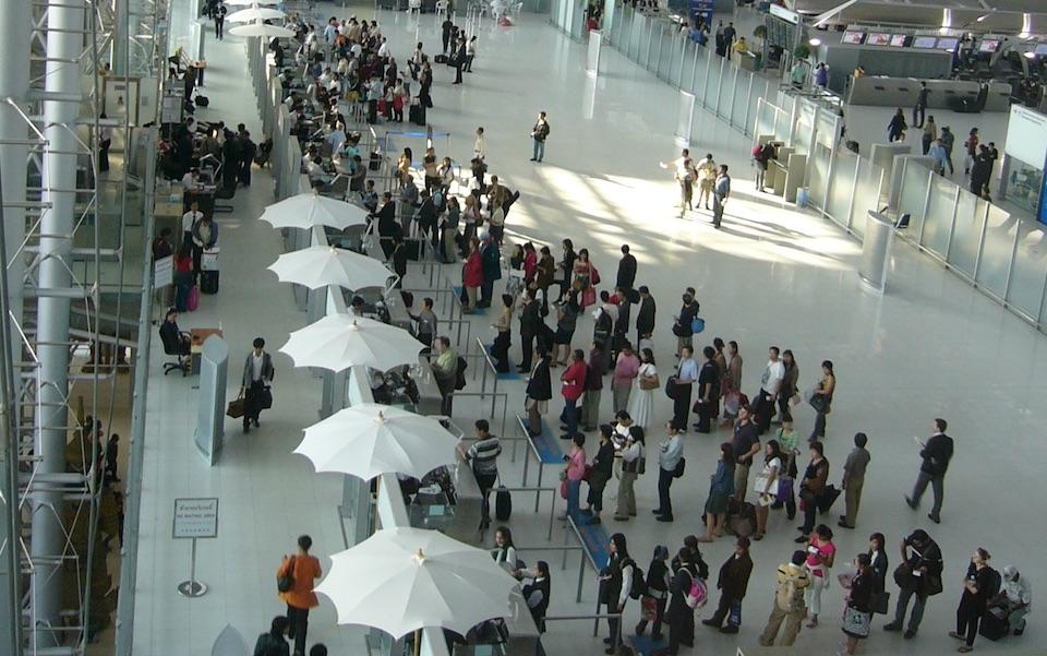 Immigration at Suvarnabhumi Airport in Bangkok