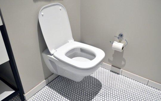 Contemporary White toilet