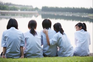 Young Thai female students