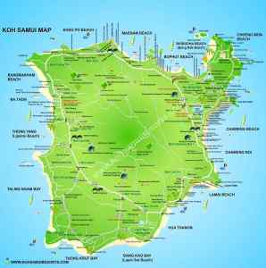 Map of Koh Samui Thailand
