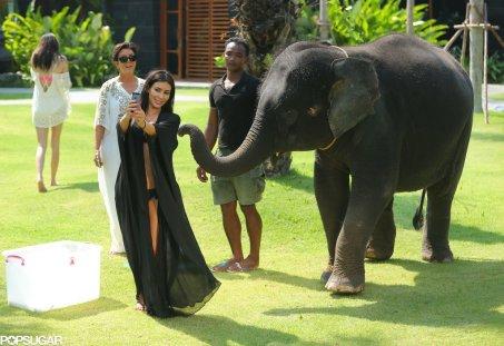 Kim-Kardashian-Taking-Selfie-Elephant-Thailand