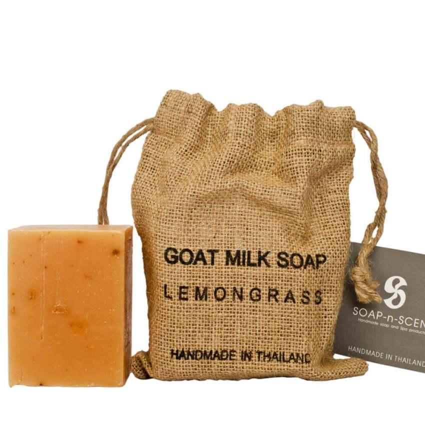 麻布袋山羊奶手工保養皂-檸檬草270g