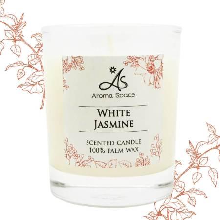 白色茉莉香氛蠟燭-165g 送杯蓋