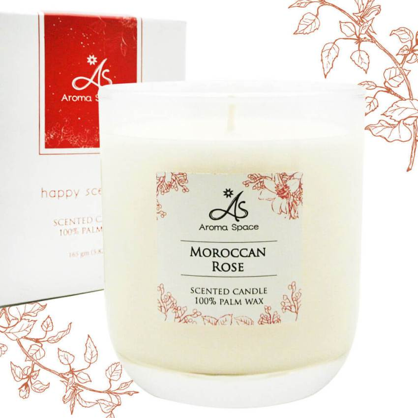摩洛哥玫瑰香氛蠟燭-165g 送杯蓋