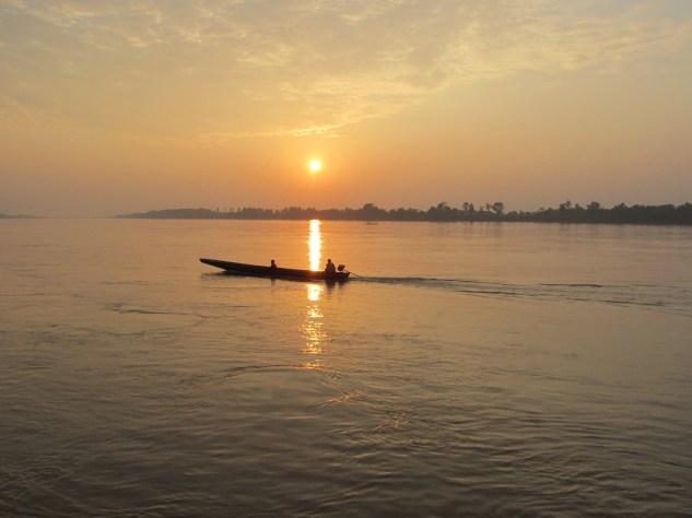 Mekong - západ slunce 2014