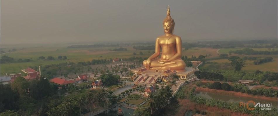 Pohled z Dronu - Wat Muang - Thajsko