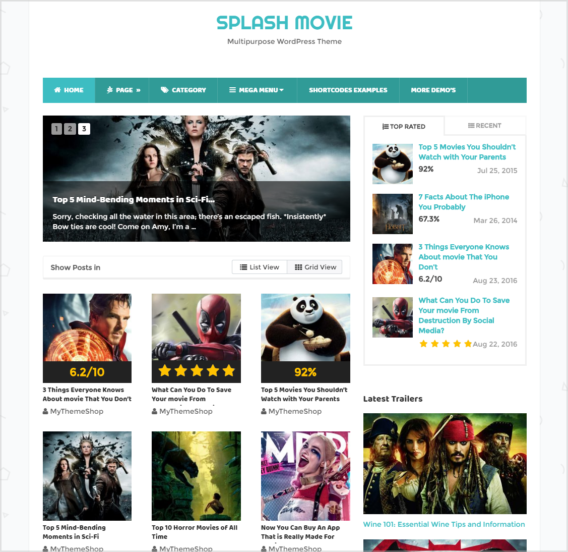 best wordpress blogging theme - Splash theme