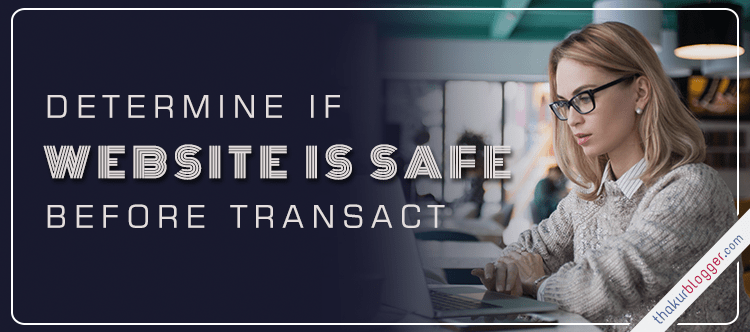 determine wAebsite safe transacting