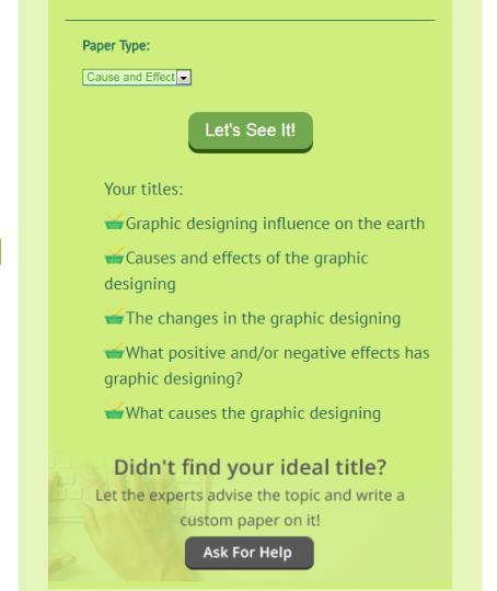 psydissertation - Free Blog Title Generator Tools