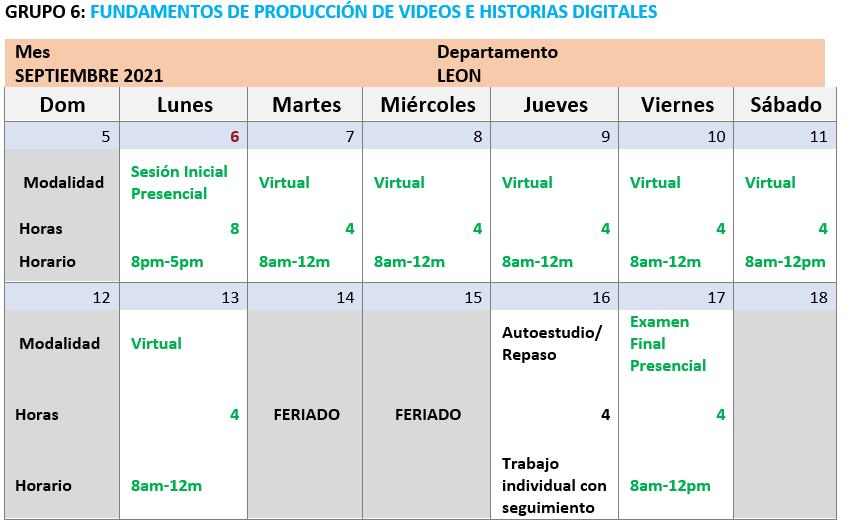Fundamentos de Producción de videos G6