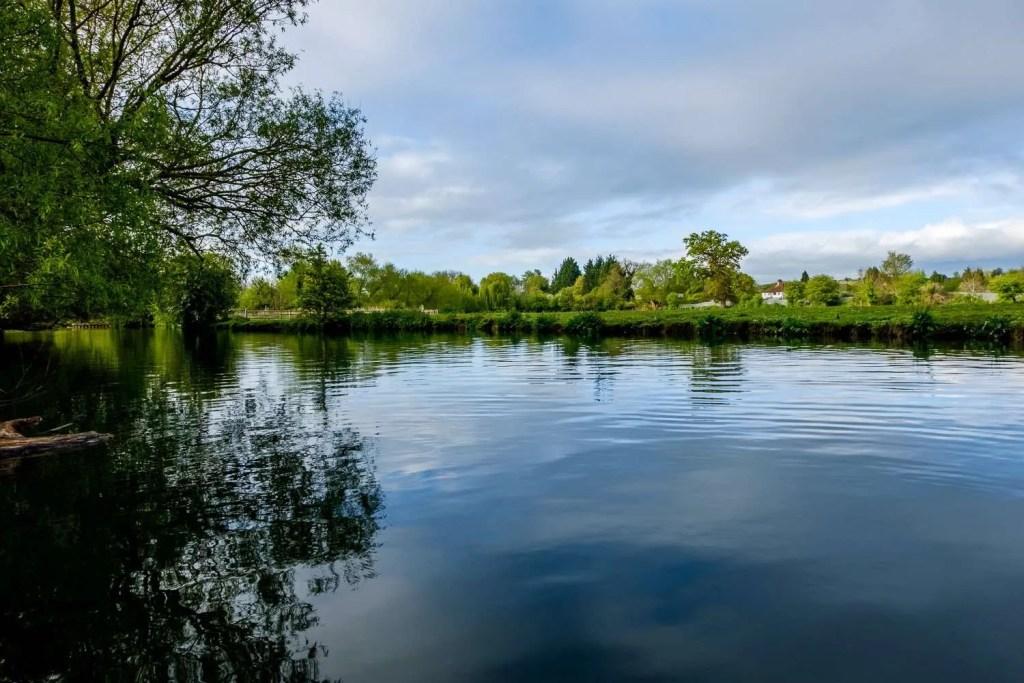 Longbridges Nature Park in Oxford. River Thames. UK