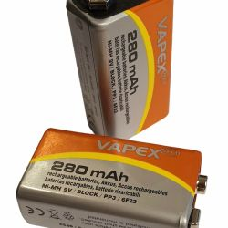 battery2 - CAT+ Super photocell 280 mAh rechargeable batteries