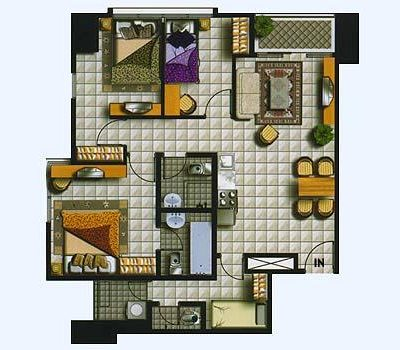 3 Br Floor Plan Thamrin Residence