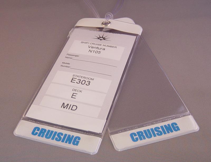Cruise luggage tag holders