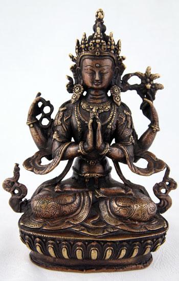 Lost wax form Bronze Statue of the Bodhisattva Avalokiteshvara