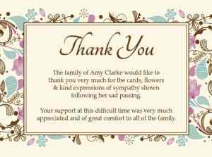 Sympathy thank you cards thank you funeral 2 expocarfo Image collections