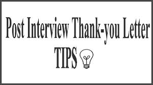 Thank-You after Interview