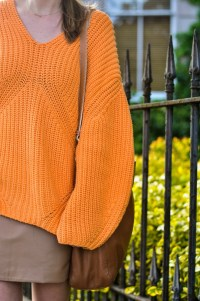 H&M Trend orange jumper - fashion blogger street style ...