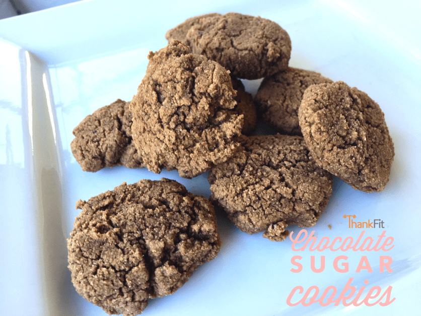 Healthy Chocolate Sugar Cookies