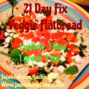21 Day Fix Veggie Flatbread