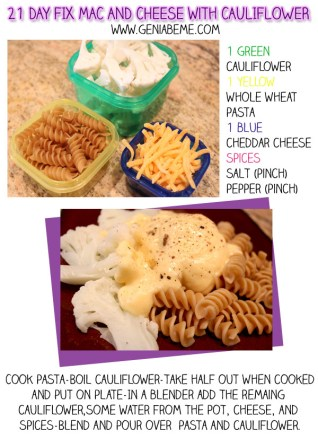 21 Day Fix Recipes Mac & Cheese