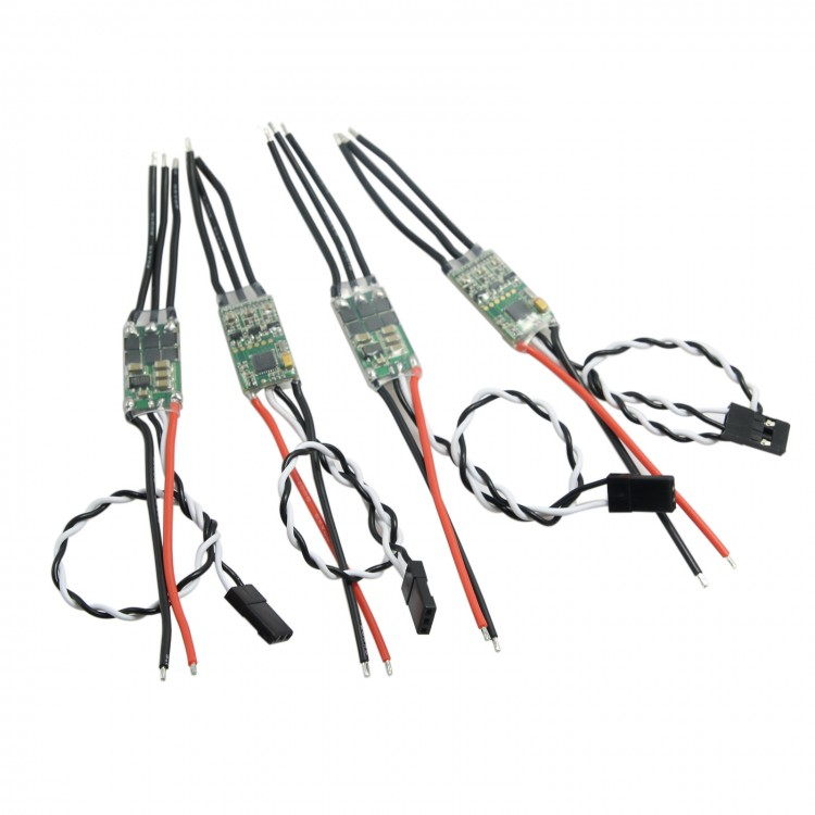 4PCS Mini BLHeli OPTO 2-4S 20A Brushless ESC SN Series for