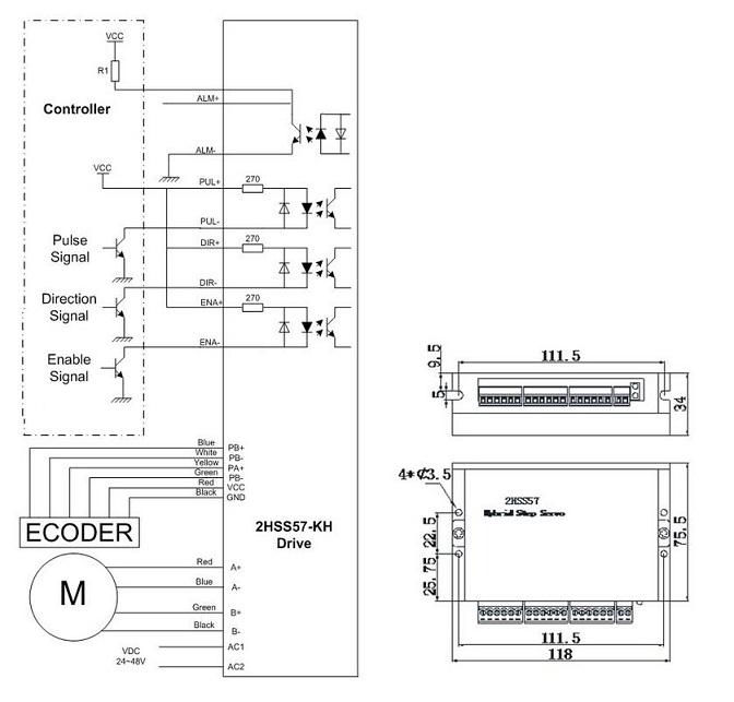 2 Phase Closed Loop Hybrid Step Servo Driver for NEMA23