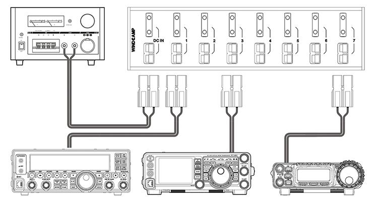 8-Port 40A Connector Power Splitter Distributor Source