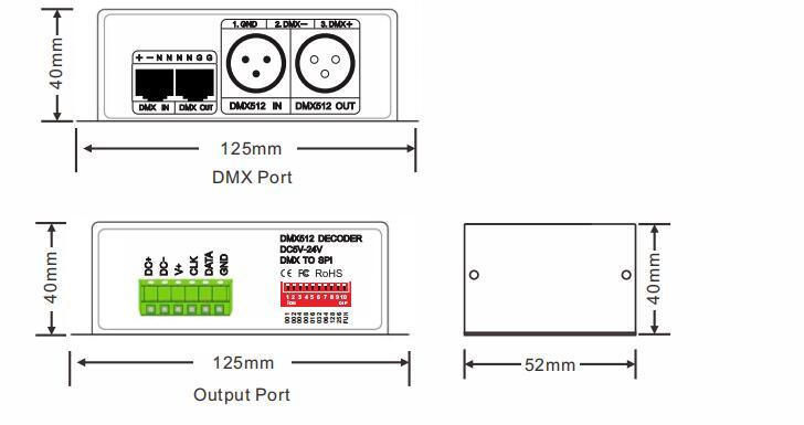 BC-802-1809 DMX512 Signal Decoder Controller DC5V-24V