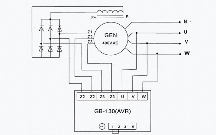 Maxgeek DX-11 GB130B Generator AVR Automatic Voltage