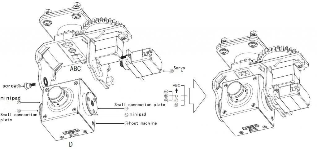 Pan-Tilt 2-axis Camera Gimbal PTZ for Boscam HD19 Explorer
