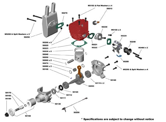 CRRC Pro GF50i 50cc Gas Engine/Petrol Engine for RC