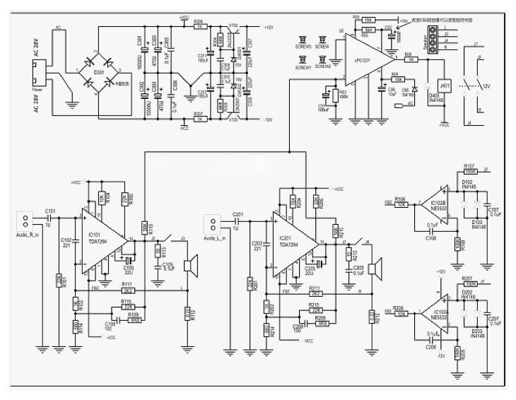 TDA7294 2 x100W Current Feedback Audio Power Amplifier