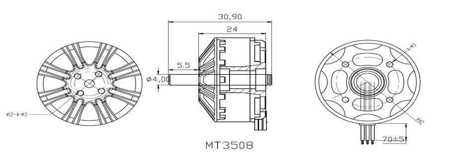 LDPOWER MT3508 380KV Brushless Motor for RC Quadcopter