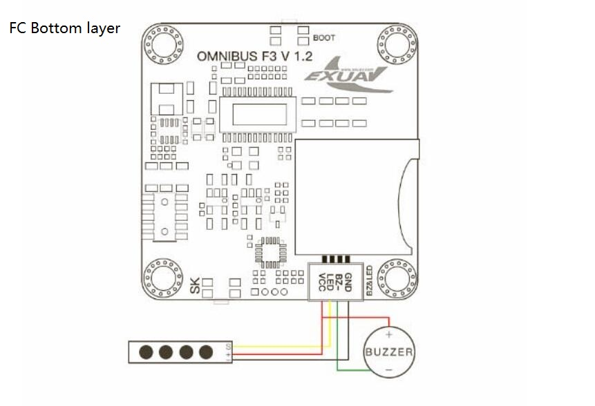 FlyTower F3 Flight Controller Board Integrated with OSD